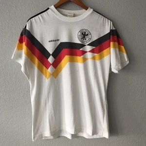 Vintage 80's Germany World Cup Soccer Jersey